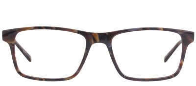 Modo MODO 6610 MRBLE Rectangular Plastic Brown Eyeglasses with Demo Lens
