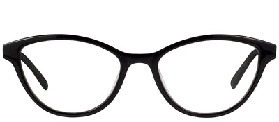 Modo MODO 6612 BLK Cat-Eye Plastic Black Eyeglasses with Demo Lens
