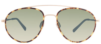 Modo MODO 680 TORT Oval Titanium Tortoise/ Havana Sunglasses with Green Polarized Lens