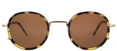 Tomas Maier TM 0010S 002 Round Plastic Tortoise/ Havana Sunglasses with Brown Lens