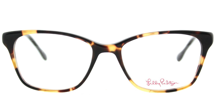 Lilly Pulitzer LP Lindley TO/NV Rectangle Plastic Tortoise/ Havana Eyeglasses with Demo Lens