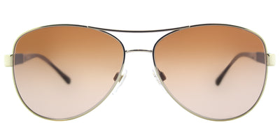 Burberry BE 3080 114513 Aviator Metal Gold Sunglasses with Brown Gradient Lens