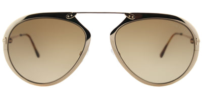 Tom Ford TF 508 28F Aviator Metal Gold Sunglasses with Brown Gradient Lens