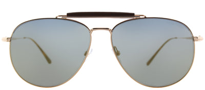 Tom Ford TF 536 28C Aviator Metal Gold Sunglasses with Silver Mirror Lens
