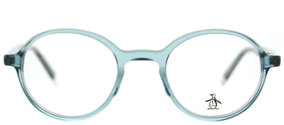 Original Penguin PE Mungarutal DN Round Plastic Blue Eyeglasses with Demo Lens