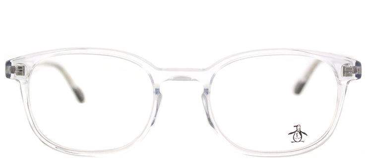 Original Penguin PE Stewart CR Rectangle Plastic Clear Eyeglasses with Demo Lens