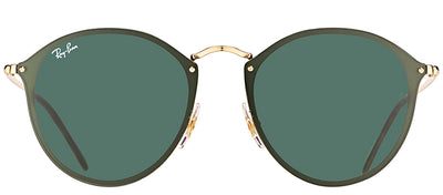Ray-Ban RB 3574N 001/71 Round Metal Gold Sunglasses with Green Lens