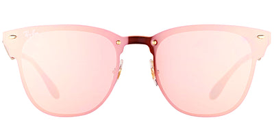 Ray-Ban RB 3576N 043/E4 Clubmaster Metal Gold Sunglasses with Pink Mirror Lens