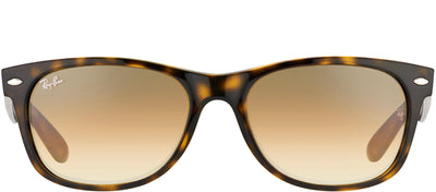 Ray-Ban RB 2132 710/51 Wayfarer Plastic Brown Sunglasses with Brown Gradient Lens