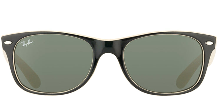 Ray-Ban RB 2132 875 Wayfarer Plastic Black Sunglasses with Green Lens