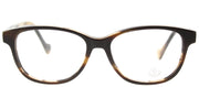 Moncler ML 5014 053 Cat-Eye Plastic Tortoise/ Havana Eyeglasses with Demo Lens