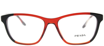 Prada PR 04TV VYO1O1 Square Plastic Burgundy/ Red Eyeglasses with Demo Lens