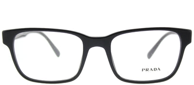 Prada PR 06UV 1AB1O1 Rectangle Plastic Black Eyeglasses with Demo Lens