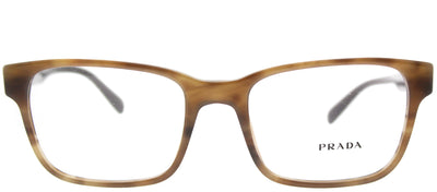 Prada PR 06UV VYQ1O1 Rectangle Plastic Brown Eyeglasses with Demo Lens