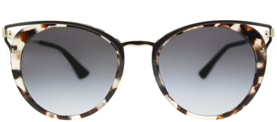 Prada PR 66TS UAO5D1 Round Metal Tortoise/ Havana Sunglasses with Grey Gradient Lens