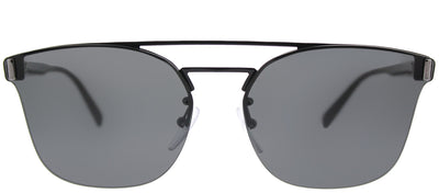 Prada PR 67TS 1AB5S0 Square Metal Black Sunglasses with Grey Lens