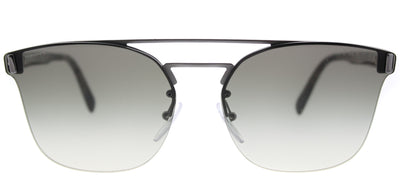 Prada PR 67TS 5AV0A7 Square Metal Ruthenium/ Gunmetal Sunglasses with Grey Gradient Lens