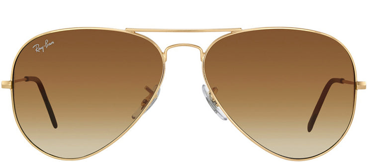 Ray-Ban RB 3025 001/51 Aviator Metal Gold Sunglasses with Brown Gradient Lens