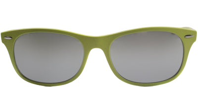 Ray-Ban RB 4207 609988 Wayfarer Plastic Green Sunglasses with Grey Mirror Lens