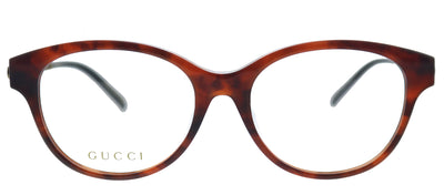 Gucci GG 0658OA 002 Cat-Eye Plastic Havana Eyeglasses with Demo Lens