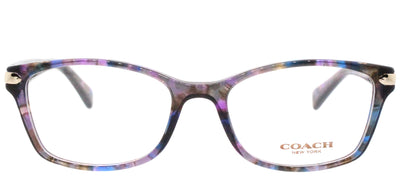 Coach HC 6065 5288 Rectangle Plastic Purple Eyeglasses with Demo Lens