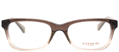 Coach HC 6089 5400 Rectangle Plastic Brown Eyeglasses with Demo Lens
