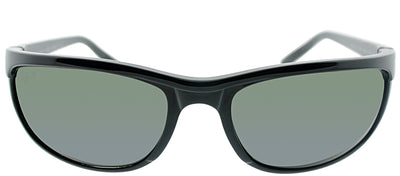 Ray-Ban Predator 2 RB 2027 601/W1 Rectangle Plastic Black Sunglasses with Grey Mirrord Polarized Lens