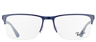 Ray-Ban RX 6335 2947 Rectangle Metal Blue Eyeglasses with Demo Lens