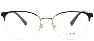 Versace VE 1247 1252 Round Metal Black Eyeglasses with Demo Lens