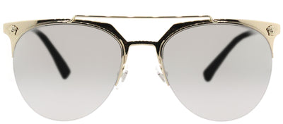 Versace VE 2181 12526G Aviator Metal Gold Sunglasses with Silver Mirror Lens