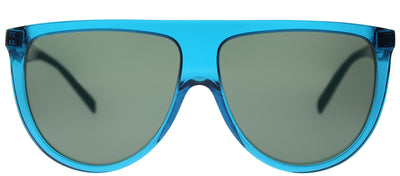 Celine CL 41435 T91 Round Plastic Blue Sunglasses with Green Lens