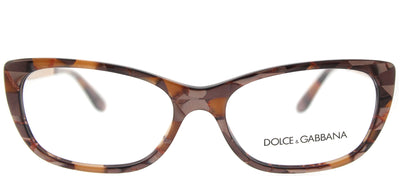 Dolce & Gabbana DG 3279 3131 Cat-Eye Plastic Bronze Eyeglasses with Demo Lens