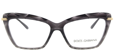 Dolce & Gabbana DG 5025 504 Cat-Eye Plastic Grey Eyeglasses with Demo Lens