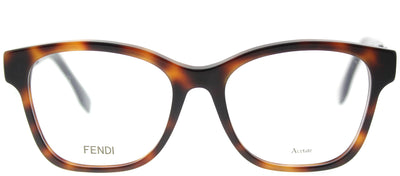 Fendi FF 0276 086 Square Plastic Tortoise/ Havana Eyeglasses with Demo Lens