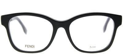 Fendi FF 0276 807 Square Plastic Black Eyeglasses with Demo Lens