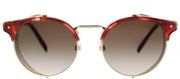 Valentino VA 2008Z 302013 Round Metal Gold Sunglasses with Brown Gradient Lens