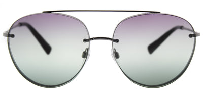 Valentino VA 2009 3005E5 Aviator Metal Ruthenium/ Gunmetal Sunglasses with Gradient Red Green Lens