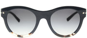 Valentino VA 4020 50078G Round Plastic Blue Sunglasses with Grey Gradient Lens