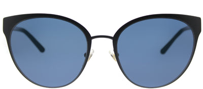 Tory Burch TY 6058 307980 Cat-Eye Metal Black Sunglasses with Blue Lens