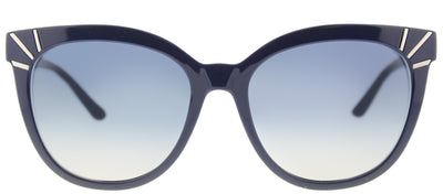 Tory Burch TY 9051 13704L Cat-Eye Plastic Blue Sunglasses with Grey Gradient Lens