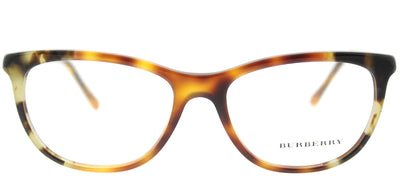 Burberry BE 2189 3667 Cat-Eye Plastic Tortoise/ Havana Eyeglasses with Demo Lens