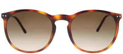 Burberry BE 4250Q 331613 Round Plastic Tortoise/ Havana Sunglasses with Brown Gradient Lens