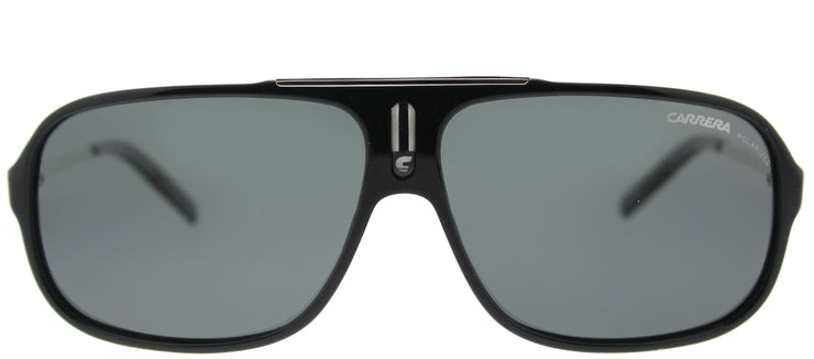 Carrera CA Cool CSA RA Aviator Plastic Black Sunglasses with Grey Polarized Lens