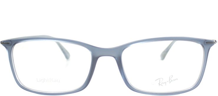 Ray-Ban RX 7031 5400 Rectangle Plastic Blue Eyeglasses with Demo Lens