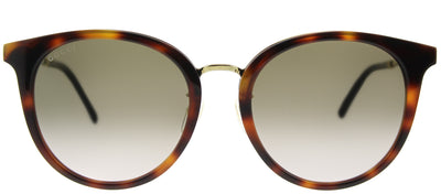 Gucci GG 0204SK 003 Fashion Plastic Brown Sunglasses with Brown Gradient Lens