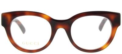 Gucci GG 0209O 002 Fashion Plastic Brown Eyeglasses with Demo Lens