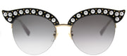 Gucci GG 0212S 001 Fashion Plastic Black Sunglasses with Grey Gradient Lens