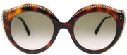 Gucci GG 0214S 003 Fashion Plastic Brown Sunglasses with Brown Gradient Lens