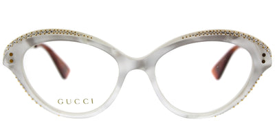 Gucci GG 0215O 003 Cat-Eye Plastic Ivory/ White Eyeglasses with Demo Lens