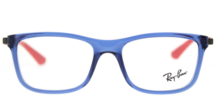 Ray-Ban Junior RY 1549 3734 Square Plastic Blue Eyeglasses with Demo Lens